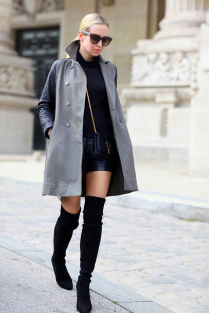 80118cdc33c shoes stuart weitzman boots over the knee boots black boots flat boots  suede boots thigh high