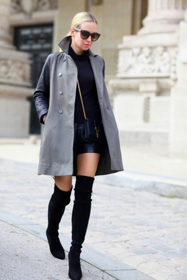 Shoes: stuart weitzman, boots, over the knee boots, black boots ...