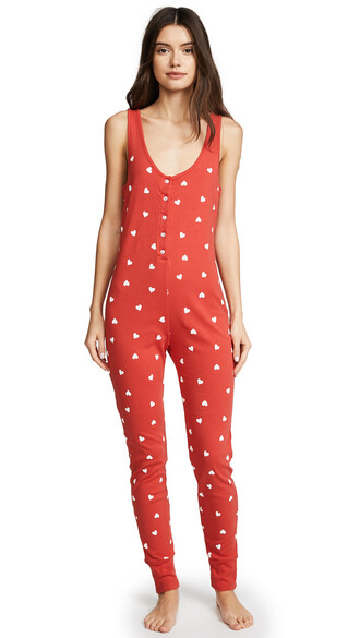 jumpsuit flare red