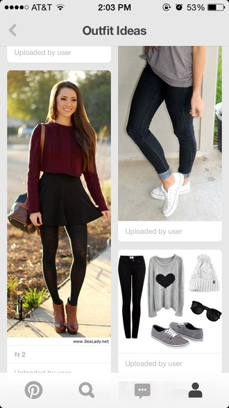 sweater burgundy sweater skirt black skirt skater skirt black skater skirt tights black tights shoes red lime sunday