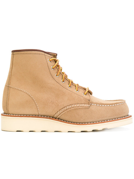Red Wing Shoes women lace leather nude shoes