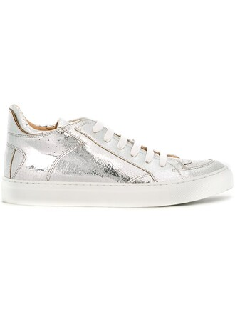 sneakers low top sneakers metallic shoes