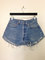 Vintage 90s levi 501xx high waist blue denim jeans cutoffs frayed shorts 33 x 34