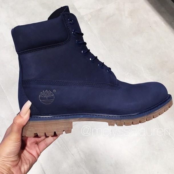 shoes timberlands boots navy tan heel
