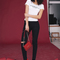 Women's fashionable ripped skinny denim jeans