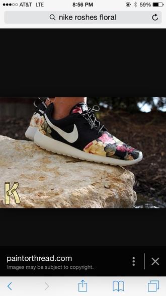 shoes nike nike roshe run running shoes nike roshes floral roshes