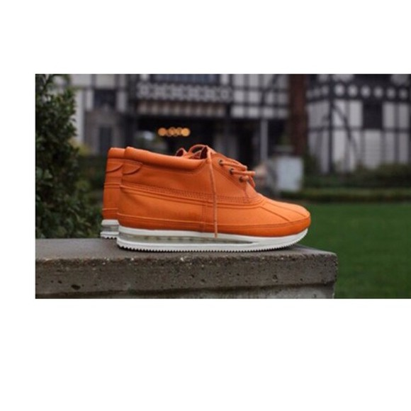 shoes ankle boots gourmet orange shoes
