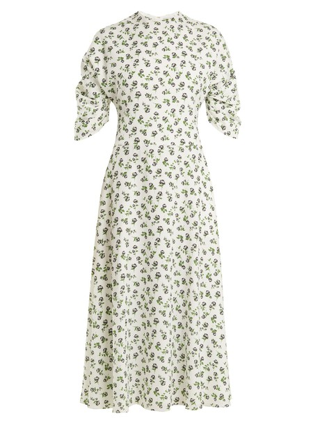 EMILIA WICKSTEAD dress midi dress rose midi print white
