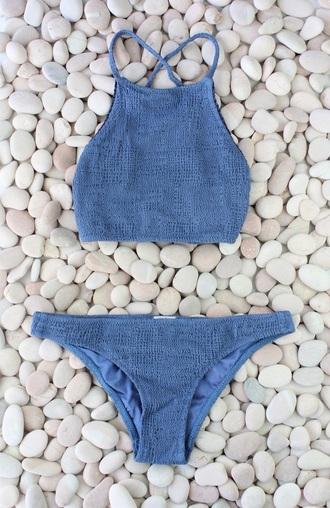 swimwear bikini blue