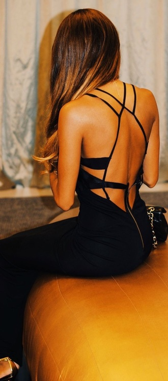 dress black dress black straps dresses long dress evening dress chic stunning dress zip
