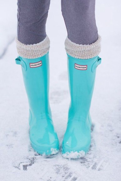shoes turquoise shorts boots tiffany blue hunter boots wellies