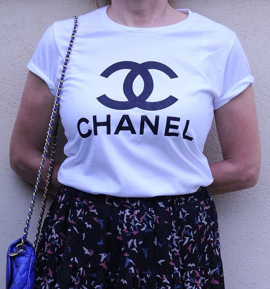 t-shirt chanel shirt chanel t-shirt chanel top vogue