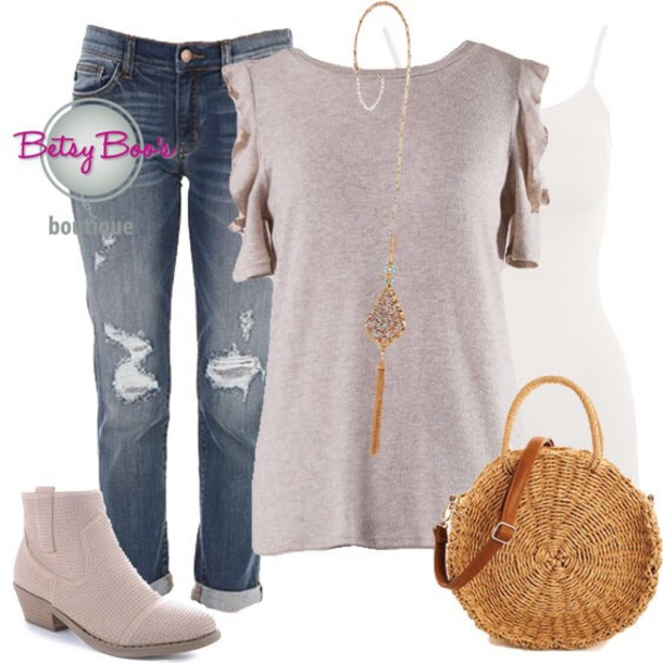 701cea5b9fd5a blouse ruffle ootd ootn women fashion style chic trendy beautiful boutique  denim jeans jewelry shoes handbag