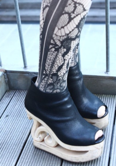 shoes platform shoes vintage jeffrey campbell black