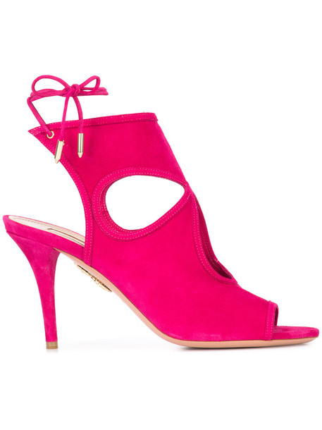sexy women sandals leather suede purple pink shoes