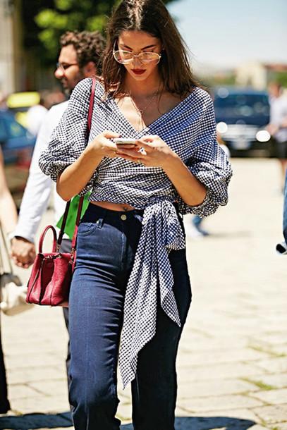 le fashion image blogger sunglasses blouse shirt bag