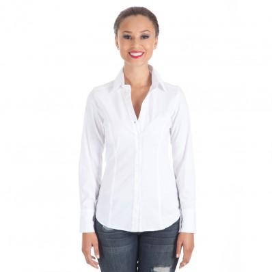 White Button Up Shirt - Shoxie.com