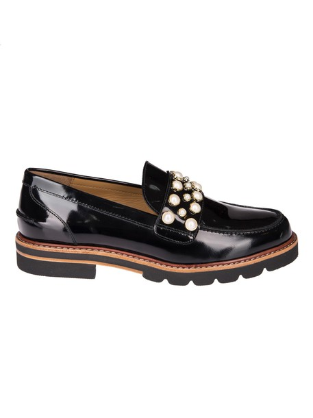 STUART WEITZMAN pearl loafers shoes
