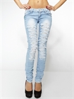 Light blue ripped and pleated jeans - Best Dressing