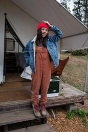 the fancy pants report,blogger,t-shirt,jacket,shoes,denim jacket,overalls,fall outfits
