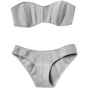 swimwear,pretty,modern,grey,bikini,haute couture