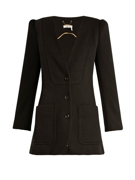 Chloe blazer wool knit black jacket