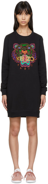 Kenzo dress sweatshirt dress tiger black