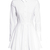 White Lapel Long Sleeve Pleated Dress - Sheinside.com
