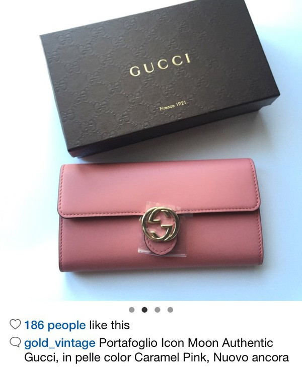 a9e9ee9e3b4c51 Amazon.com: Gucci Icon Leather Wallet Strap Camelia Camel Nude ...