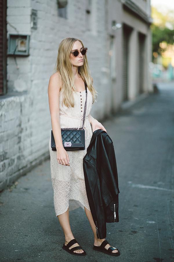 eat sleep wear blogger jacket bag hipster chanel bag