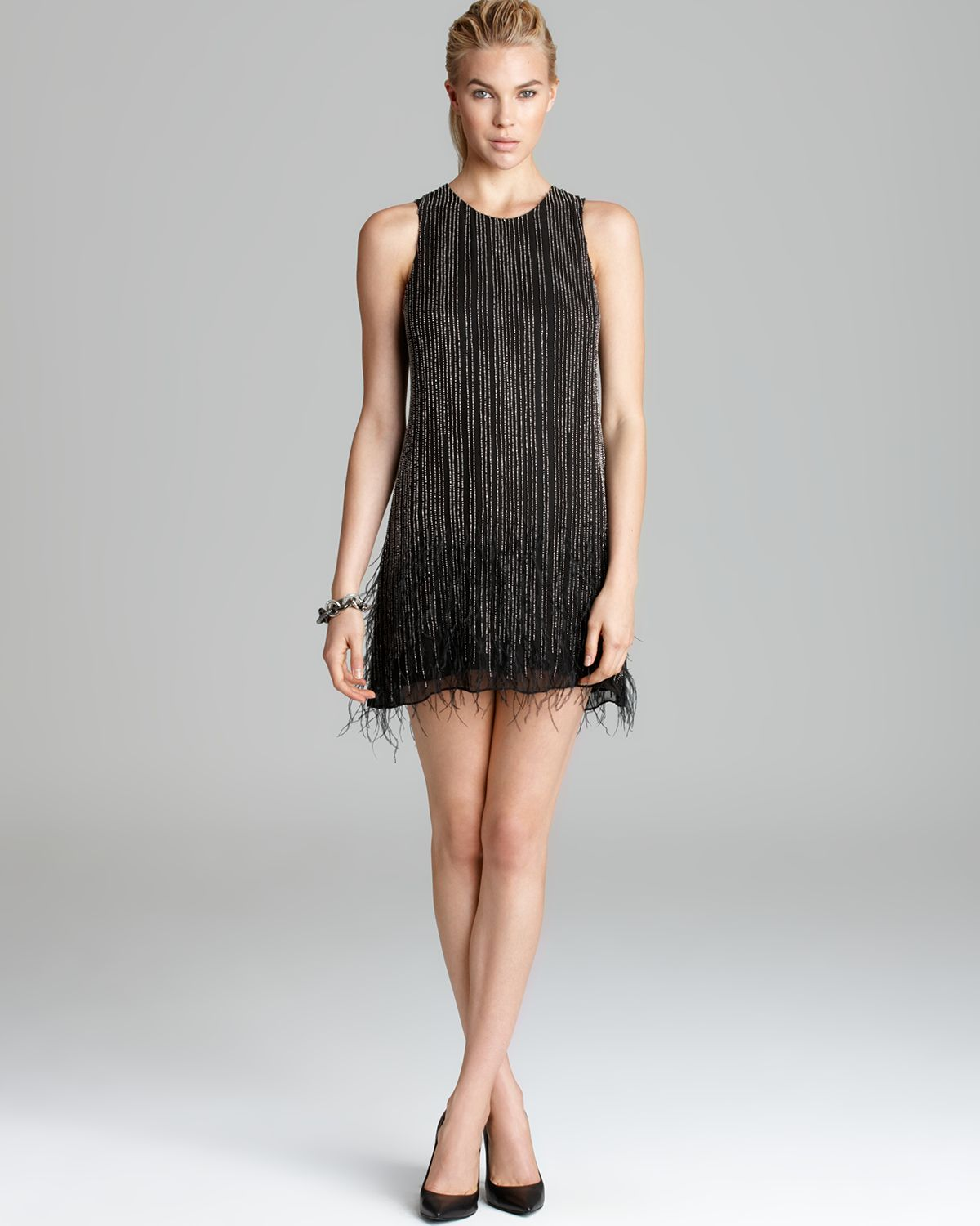 Parker Dress - Allegra Feather Trim | Bloomingdale's