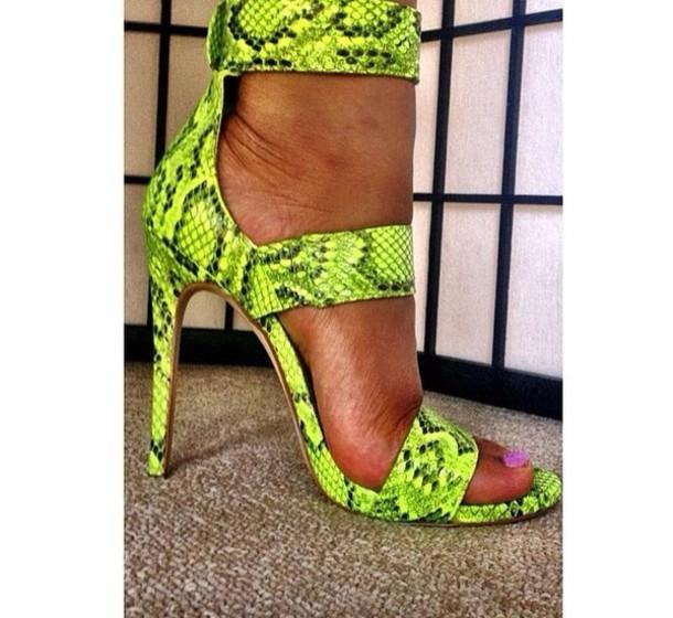 shoes snake print heels cute high heels