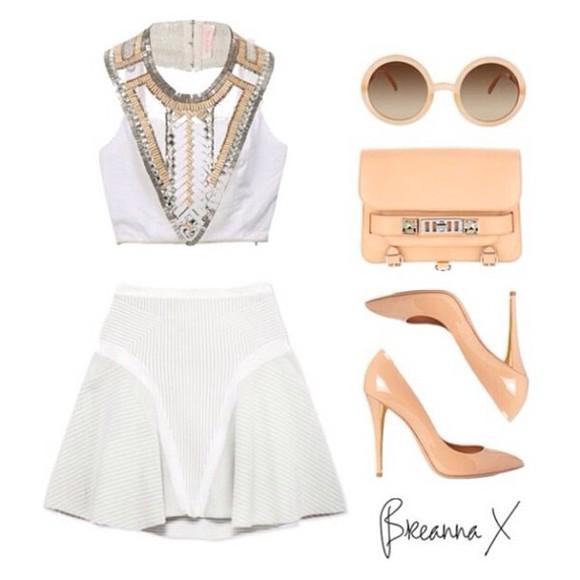 skirt top beaded kardashians breanna two set