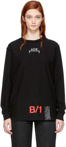 A-cold-wall* t-shirt shirt t-shirt long black top
