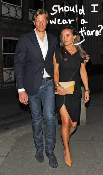 dress black dress pippa middleton zip sexy