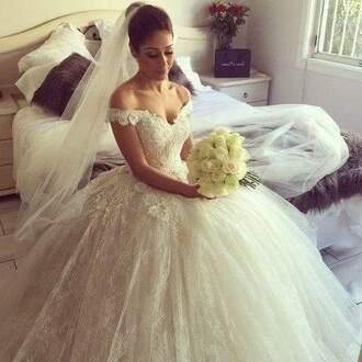 dress wedding dress off shoulder dresses lace wedding dress ball gown dress