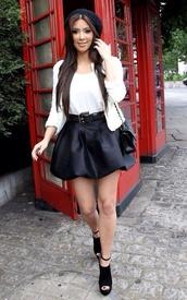 skirt,kim kardashian,jacket,shirt,shoes