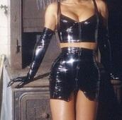 skirt,black,latex,lingerie,wet look,wet look bra,lingerie set,wet look skirt,top,gloves,jumpsuit,pvc,vinyl,leather,crop tops,corset,bustier,set,co-ord,co ord