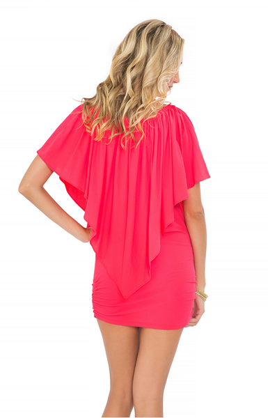 Luli Fama Coral Party Dress