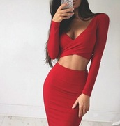 dress,red dress,red,long sleeves,long sleeve dress,cross over dress,bodycon,bodycon dress,party dress,sexy party dresses,sexy,sexy dress,party outfits,sexy outfit,summer dress,summer outfits,spring dress,spring outfits,fall dress,fall outfits,classy dress,elegant dress,cocktail dress,cute dress,girly dress,date outfit,birthday dress,clubwear,club dress,homecoming,homecoming dress,wedding clothes,wedding guest,engagement party dress,prom,prom dress,short prom dress,red prom dress,formal,formal dress,formal event outfit,graduation dress,romantic dress,romantic summer dress,holiday dress,holiday season