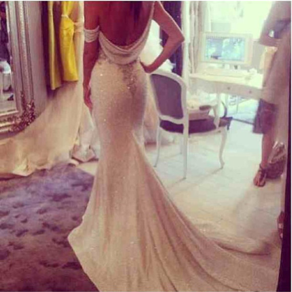 dress wedding dress low back open back dresses