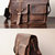 Simple Leather Briefcase - Messenger Bag - Leather Laptop - Men's Bag - Leather Case--T71 on Luulla