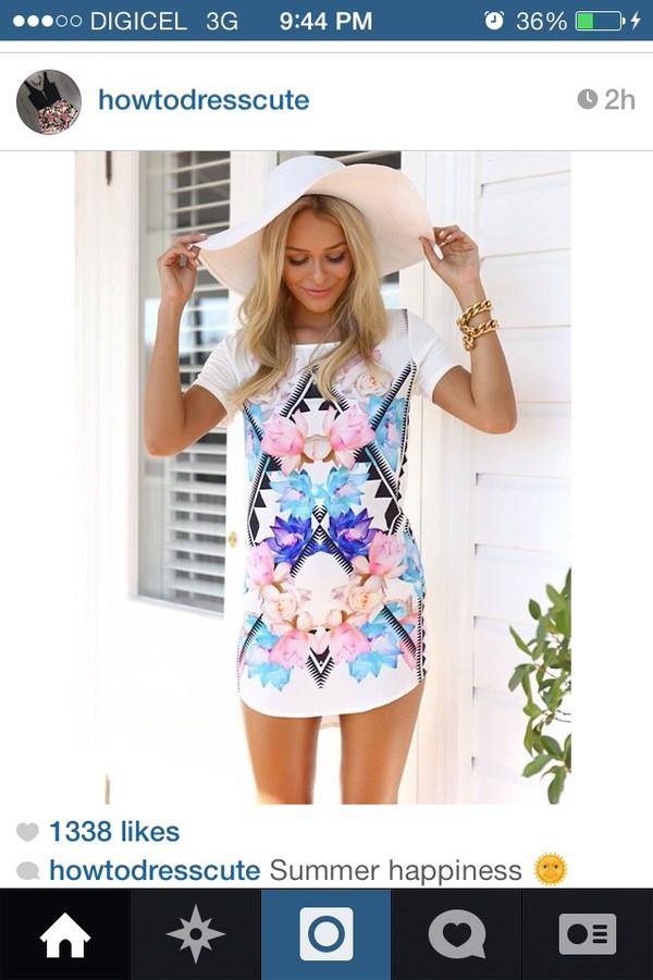 dress t-shirt dress floral summer outfits summer tshirt cover up