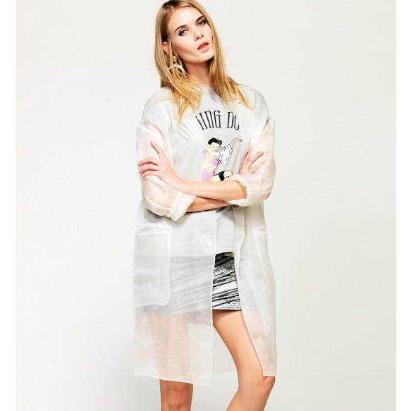 Sheer Organza Blazer at Style Moi