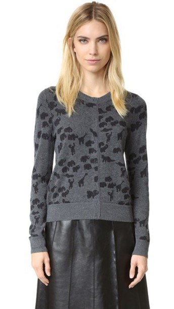 Marc Jacobs sweater animal grey