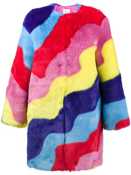 coat rainbow fur faux fur women