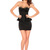 Spikes Studded Strapless Peplum Dress