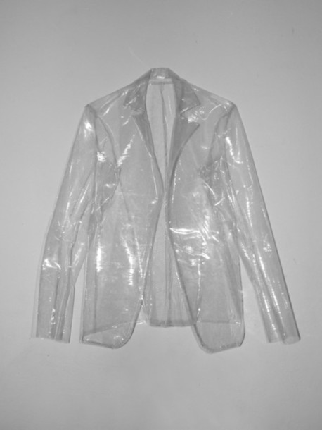 Jacket transparent clear blazer pants plastic for Clear plastic dress shirt bags