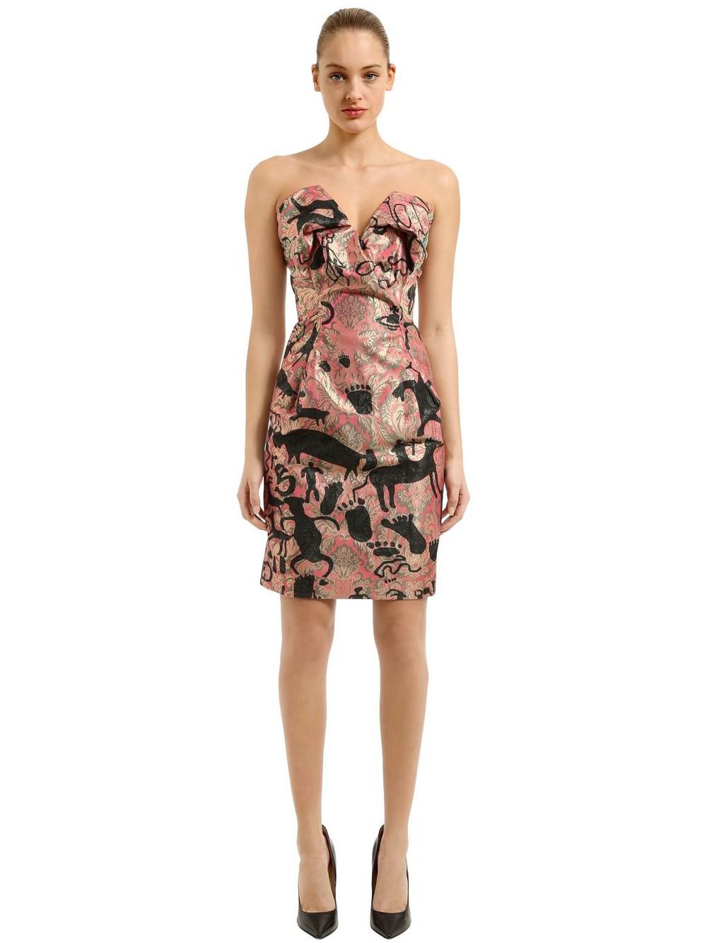 VIVIENNE WESTWOOD Wilma Jacquard Cocktail Dress in pink