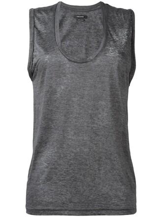 tank top top women grey